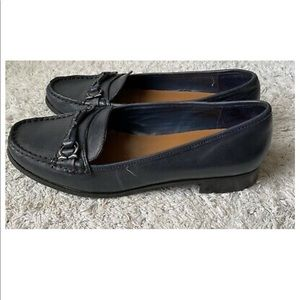 Etienne Aigner 8.5 M Blue Leather Loafer Low Heel
